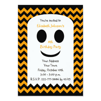 Halloween Birthday Invitation Party Ghost