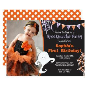 halloween birthday invitations zazzle uk .