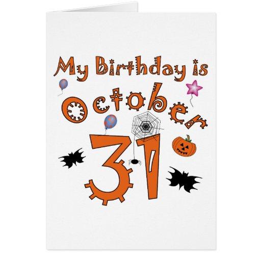 October Birthday Ecards ~ Halloween birthday october st greeting card zazzle