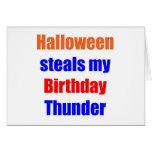 Halloween Birthday Thunder Card