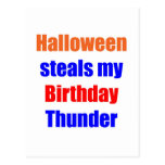 Halloween Birthday Thunder Postcard