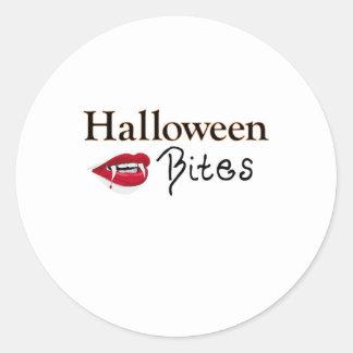 Halloween Bites Round Sticker