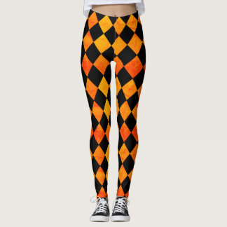 Halloween Black and Orange pattern Leggings