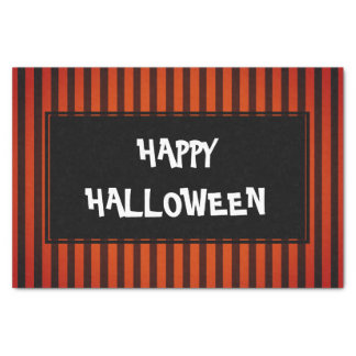 Halloween Black and Orange striped Tissue Paper
