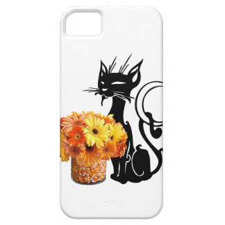 Halloween Black Cat and Candy Corn iPhone 5 Cases