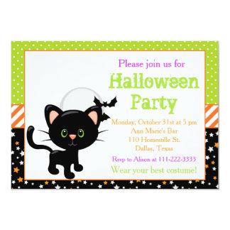 Halloween Black Cat and Full Moon Card