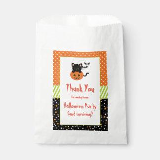 Halloween Black Cat and Pumpkin Favour Bags