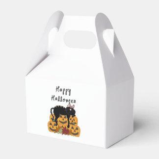 Halloween Black Cat and Pumpkins Favour Box