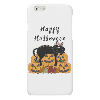 Halloween Black Cat and Pumpkins iPhone 6 Plus Case