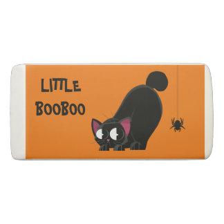 Halloween Black Cat and Spider Eraser