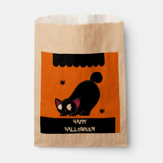 Halloween Black Cat and Spider Favour Bags