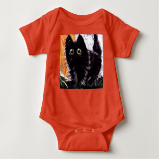 Halloween Black Cat Baby Romper Baby Bodysuit