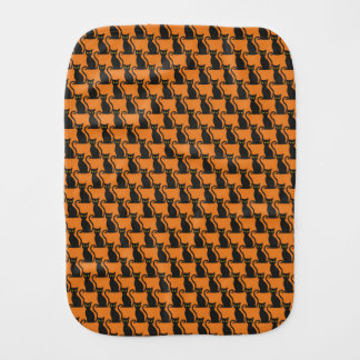 Halloween Black Cat Burp Cloth