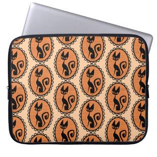 Halloween Black Cat Cameo Laptop Sleeve