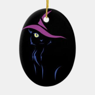 Halloween Black Cat Christmas Ornament