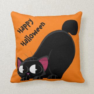 Halloween Black Cat Cushion