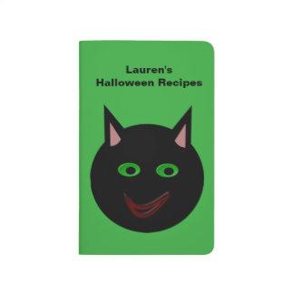 Halloween Black Cat Custom Recipe Journal