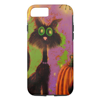 Halloween Black Cat Design iPhone 8/7 Case
