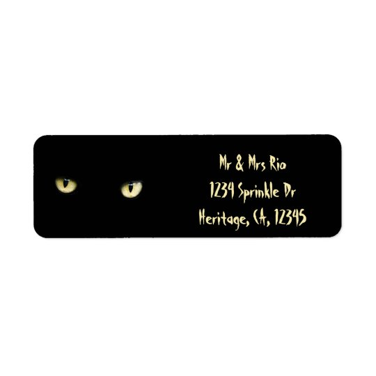 Halloween Black Cat Eyes Custom Address Labels