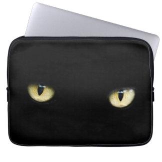 Halloween Black Cat Eyes Laptop/ MacBook Sleeve Laptop Sleeves
