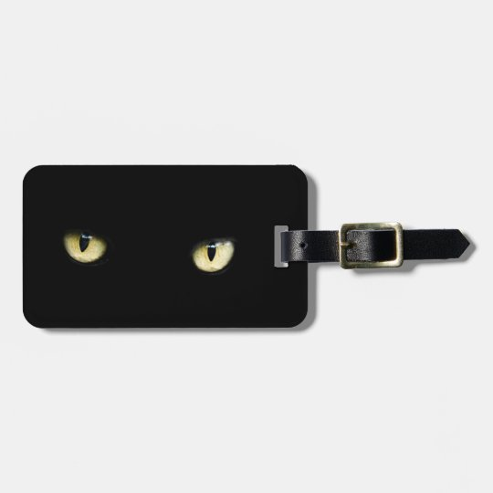 Halloween Black Cat Eyes Luggage Tag