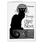Halloween Black Cat French Words Chat Noir Text Cards