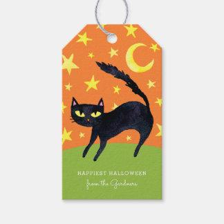 Halloween Black Cat Gift Tags