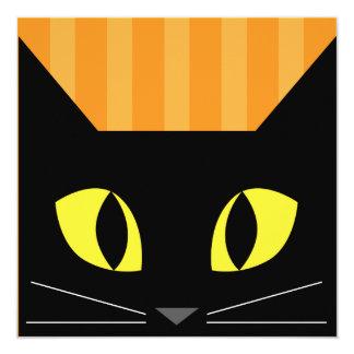 Halloween Black Cat Invitation card