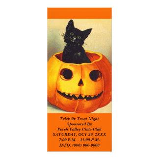 HALLOWEEN BLACK CAT JOL Jack-o-Lantern Rack Cards