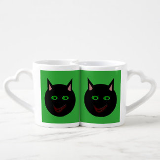Halloween Black Cat Lovers Mugs Lovers Mug