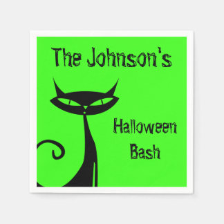 Halloween Black Cat Napkin Paper Serviettes