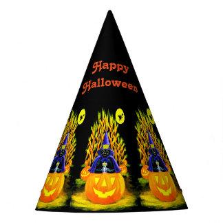 Halloween black cat party hat