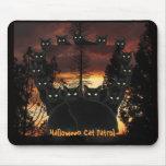 Halloween Black Cat Patrol Mousepad