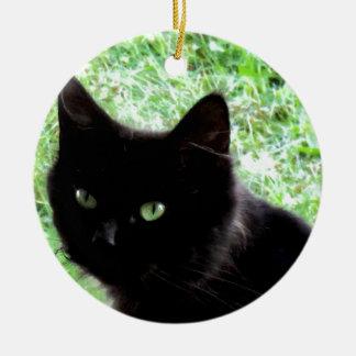 Halloween Black Cat Photo Design Christmas Ornament