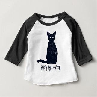 Halloween Black Cat Silhouette Baby T-Shirt