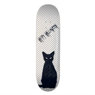 Halloween Black Cat Silhouette Skateboards