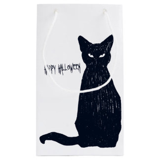 Halloween Black Cat Silhouette Small Gift Bag