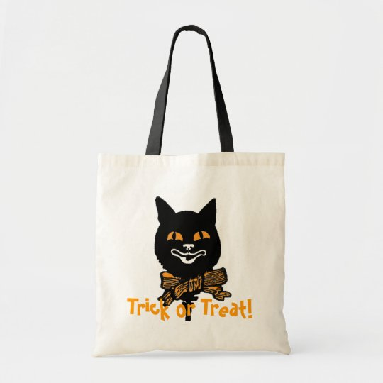 Halloween Black Cat Trick or Treat Bag