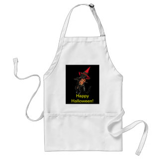 Halloween Black Cat with Fiddle Standard Apron