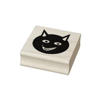 Halloween Black Cat Wood Art Stamp