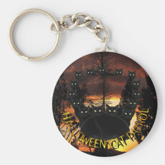 Halloween Black Cats Patrol Key Chains