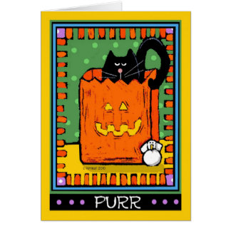 Halloween Black Cats, Purr Card