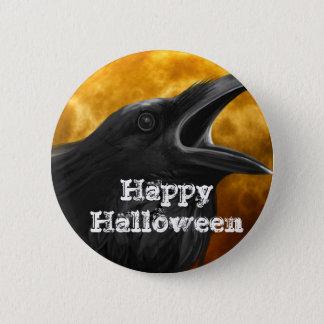 Halloween Black Crow 6 Cm Round Badge