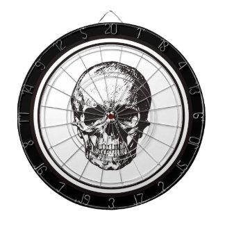 HALLOWEEN Black Gothic Damask Pattern Skull Dart Boards