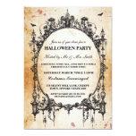 Halloween Black Gothic Spider Frame Party Invite