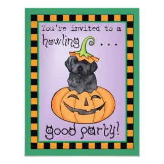 Halloween Black Lab 11 Cm X 14 Cm Invitation Card