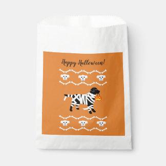 Halloween Black Labrador Mummy Favour Bags
