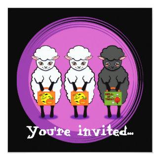 Halloween Black sheep Halloween party invites