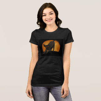 Halloween Black sphynx cat tee