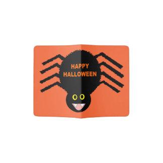 Halloween Black Spider Passport Holder